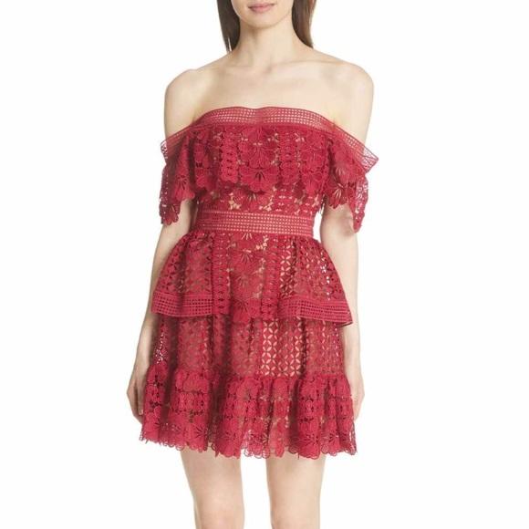 2071694ad642 Self-Portrait Dresses | Selfportrait Off Shoulder Lace Dress | Poshmark